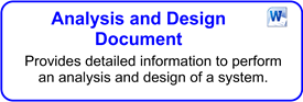Analysis And Design Document