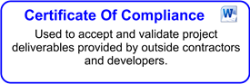 Certificate of Compliance And Acceptance