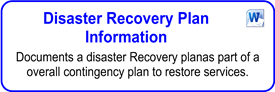 Disaster Recovery Plan Information