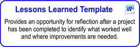 Lessons Learned Template - lessons learned document