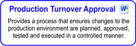 IT Production Turnover Approval