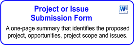 Project Or Issue Submission Form