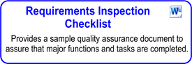 Requirements Inspection Checklist