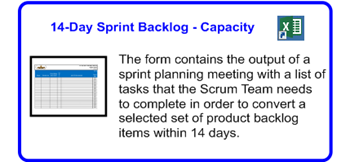 SDLCforms Agile 14-day Sprint Backlog & Capacity