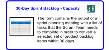 SDLCforms Agile 30-day Sprint Backlog & Capacity