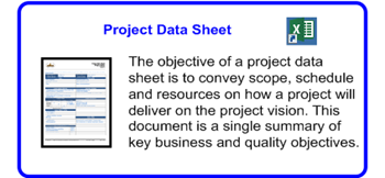 SDLCforms Agile Project Data Sheet