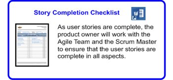 SDLCforms Agile Story Completion Checklist