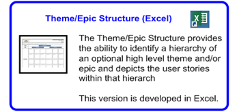 SDLCforms Agile Theme & Epic Structure Excel