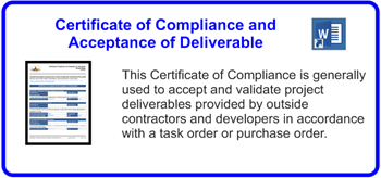 SDLCforms Certificate Compliance and Acceptance