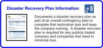 SDLCforms Disaster Recovery Plan Information