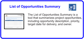 SDLCforms List Of Opportunities Summary