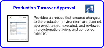 SDLCforms Production Turnover Approval