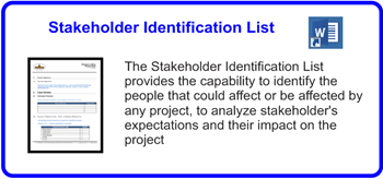 SDLCforms Stakeholder Identification List