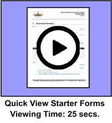 Quick View Starter Package Forms