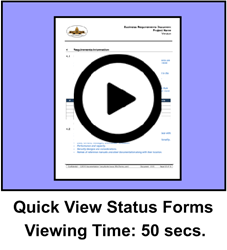 Quick View Status Package Forms